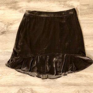 124e157c4381 Madewell Skirts | Velvet Mini Skirt | Poshmark
